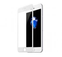 Защитное стекло iPhone 6/6S 6D белое (тех упак)