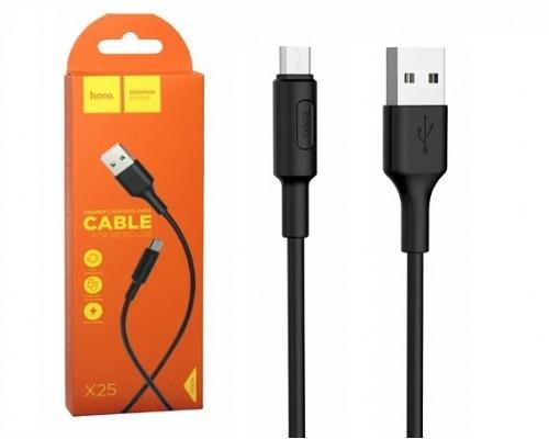 Кабель Hoco X25 microUSB - USB черный, 1м