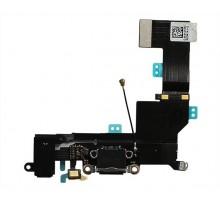 Шлейф iPhone SE на системный разъем + разъем гарнитуры + микрофон черный 2 класс