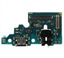 Шлейф Samsung Galaxy A515F A51 на системный разъем + микрофон (плата) 1 класс